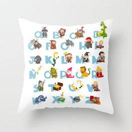 ABC  medieval (spanish) Throw Pillow