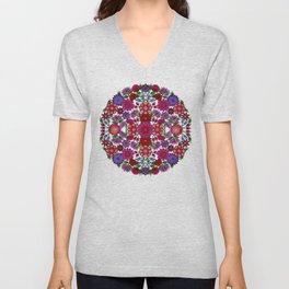 MauindiArts Bouquet Mandala Print Unisex V-Neck