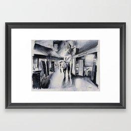 Soirée pluvieuse Framed Art Print