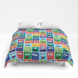 Cute Kids Monster Face Pattern Comforters
