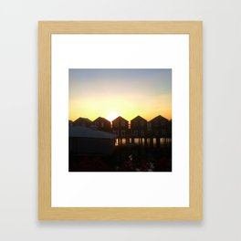 Stilt Houses Framed Art Print