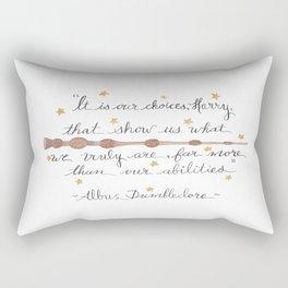 Choices Quote Rectangular Pillow