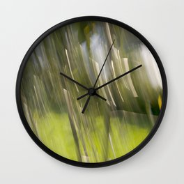 Light Forest Abstract Wall Clock