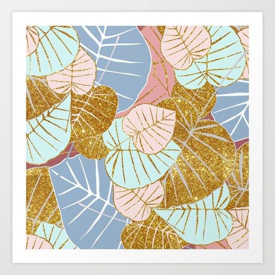 Floral Gold #society6 #decor #buyart Art Print