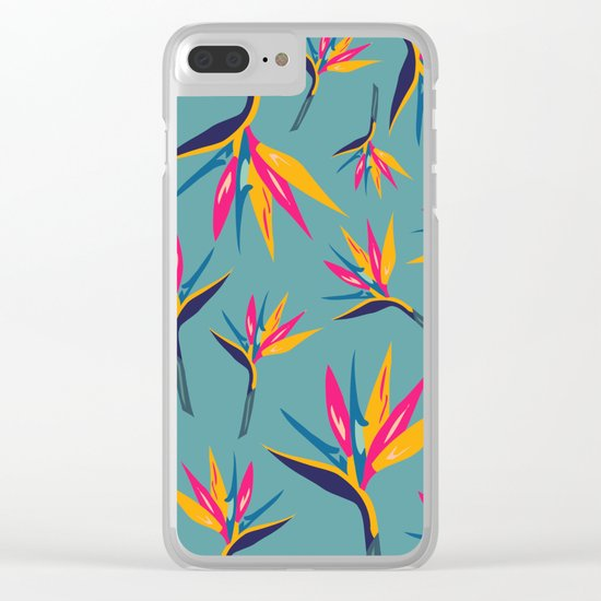 Bird of Paradise #2 Clear iPhone Case