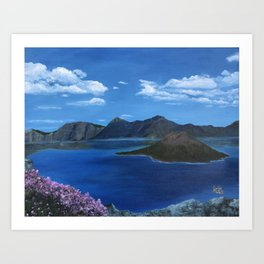 Spring at Crater Lake Art Print
