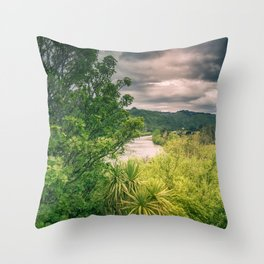 River Storm Clouds Throw Pillow