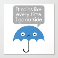 freeminds Canvas Prints featuring Umbrellativity by David Olenick