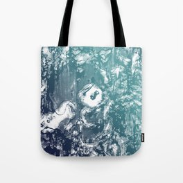Inky Shadows - Blue edition Tote Bag