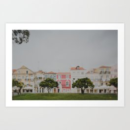 Colourful Row Art Print