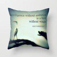 dali Throw Pillows featuring Dali by Nichole B.
