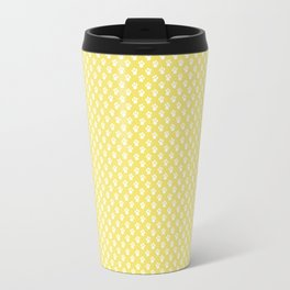 Tiny Paw Prints Lemon Yellow Pattern Travel Mug