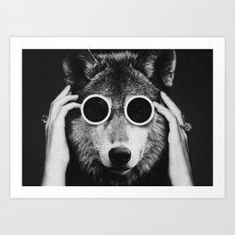 Wolf Glam Art Print