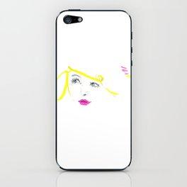 Blonde Blue iPhone Skin