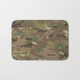 Military Woodland Camouflage Pattern Bath Mat