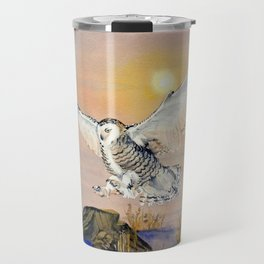 Snowy Owl Travel Mug