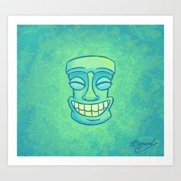 Smiley Tiki Art Print