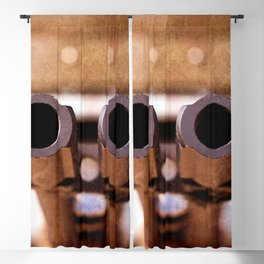 Double Barrel Military Aircraft Automatic Cannon Blackout Curtain