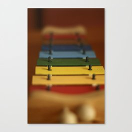 Color Music Xylophone  Canvas Print