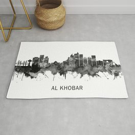 Al Khobar Saudi Arabia Skyline BW Rug