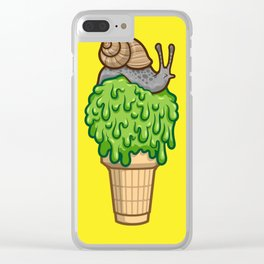 Snail Cone Clear iPhone Case