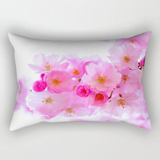 cherry tree blossom Rectangular Pillow