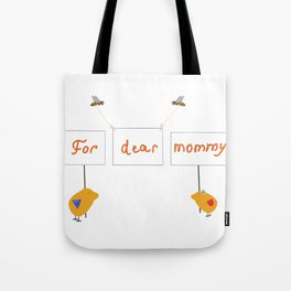 Cute image for mother`s day gift on transparent Tote Bag