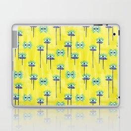 Evil Eye Nazar protective Garden Yellow Laptop & iPad Skin