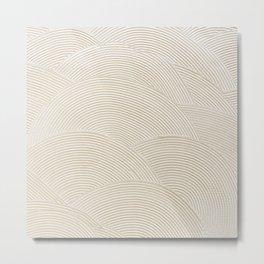 Circular Gold Plastered White Metal Print