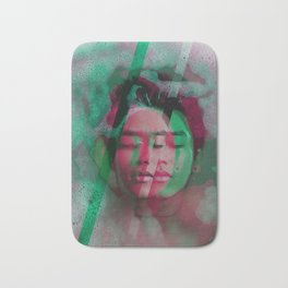 3d portrait in the bath Bath Mat