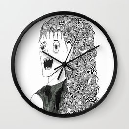 Portrait of a Girl Wall Clock