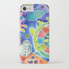 Sea Turtle Abstract iPhone Case