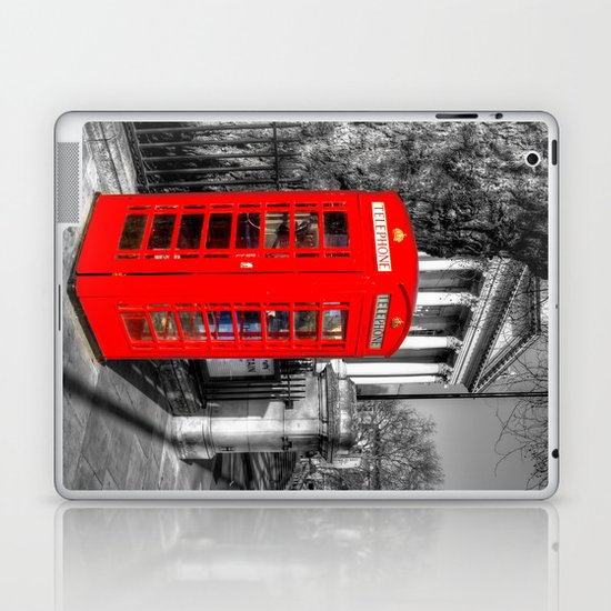 London Red Telephone Box Laptop & iPad Skin