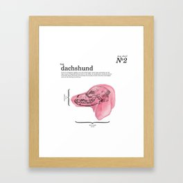 The Dachshund Framed Art Print