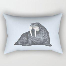 Frank Wallace in Blue | Nursery Art Walrus Drawing Rectangular Pillow