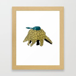 Armoured Pangolin Framed Art Print