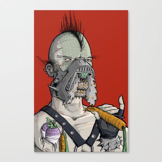 Vegetarian the Destroyer! Canvas Print