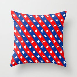 america country flag pattern Throw Pillow