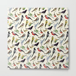 Garden Birds in the Daytime Metal Print