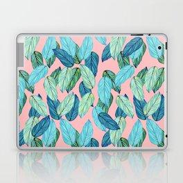 Tropical leaves on Pink Laptop & iPad Skin