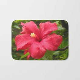 Flower in the Rain Bath Mat