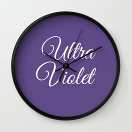 Ultra violet 2018 color Wall Clock