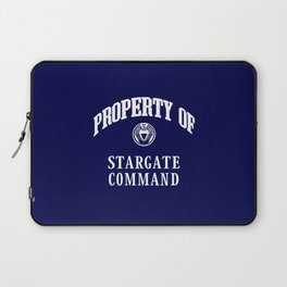 Property of Stargate Command Athletic Wear White ink Laptop Sleeve