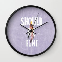 Should Be Fine-Sonic Screwdriver-Doctor Who Wall Clock