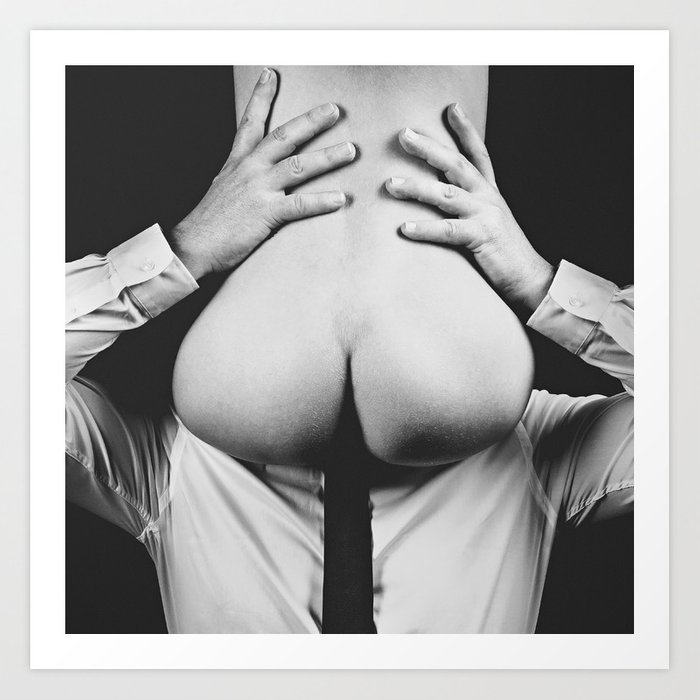 Photograph Erotic Art  - Nude woman sitting on a man Art Print