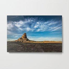 Somewhere In Time - Western Scenery of Agaltha Peak in Northern Arizona Metal Print