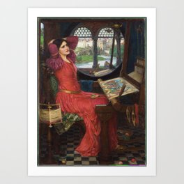 I am Half-Sick of Shadows, said the Lady of Shalott, by John William Waterhouse Art Print