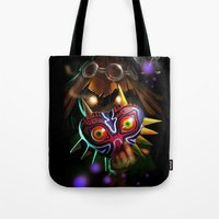 majoras mask Tote Bags featuring Majoras Mask by Max Grecke