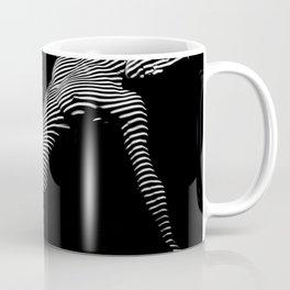 0067-DJA Zebra Nude Woman Yoga Black White Abstract Curves Expressive Line Slim Fit Girl  Coffee Mug