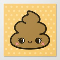 poop Canvas Prints featuring Cutey poop by Holly